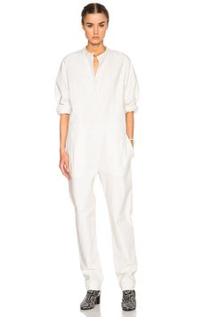 Image 1 of Isabel Marant Nuk Chic Popeline Jumpsuit in White