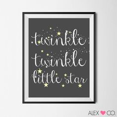 Nursery Printable Little Star Printable by alexandcoprintables