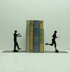 Etsy listing at http://www.etsy.com/listing/94877994/zombie-metal-art-bookends-free-usa