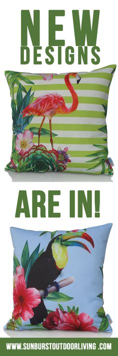 New cushion cover designs are in! Add colors and fun to your interior design!