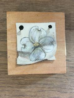 Oil paint on wood, dogwood flower... Recartworks.com