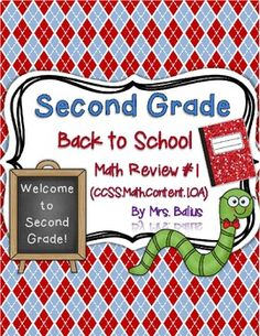 Are you looking for a rigorous second grade beginning of the year math review based on the Common Core Standards? From Mrs Balius's First Grade: Welcome to Second Grade!
