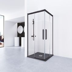 One of the up-and-coming trends in bathroom design is ground-level showers. Farrow Ball, Glass Printing, Bathroom Trends, Bathroom Ideas, Shower Enclosure, Bathroom Cabinets, How To Level Ground, Small Bathroom, Bathrooms