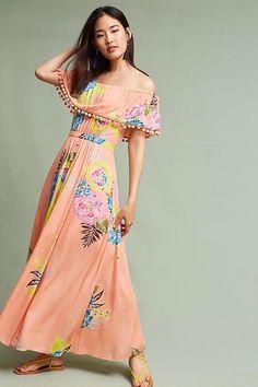 47e56dcedf5 Pom Pom Off-the Shoulder Maxi Dress Size SP PS Farm Rio NWT Destination  Wedding