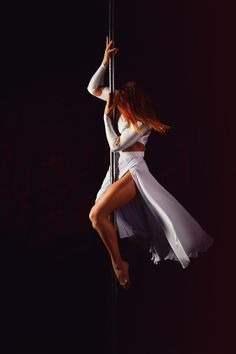 Woman Doing Pole Dance · Free Stock Photo Pole Dance, Casting Girl, Flight Girls, Pole Classes, Pole Moves, Pole Art, Long Hair Tips, New Kurti, Ballroom Dancing