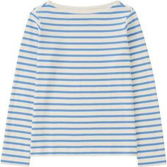 UNIQLO Women Striped Boat Neck Long Sleeve T-Shirt ($15) ❤ liked on Polyvore featuring tops, t-shirts, sweaters, uniqlo t shirts, boxy tee, boatneck tee, stripe tee and striped long sleeve t shirt