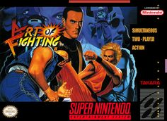 Art of Fighting (Super Nintendo Entertainment System, for sale online Games Box, Games To Play, Card Games, Cartoon Network, Playstation, Xbox, Arcade, Art Of Fighting, Game Art