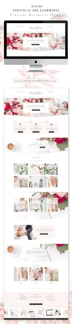 Introducing Vivien new feminine Wordpress theme - LovelyConfetti