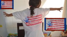 Hello everyone today we are going to make a USA Flag for 4th of July on a T-shirt   The Material that you need are  White T-shirt  Blue ,White and red paint  Paint Brushes Your child Hand Tape     Enjoy and have fun with your kids  Hola en este video te mostraremos como hacer una camisa para celebrar el 4th de julio muy fácil de hacer   Materiales  Camisa blanca pintura azul,blanca y roja La mano de tu niño (A) cinta adesiva   y como siempre divierte con tus pequeñines