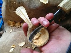 Tom Bartlett: Using a twca cam to hollow out a small scoop from cherry wood.