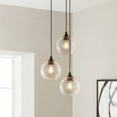 Shop for Uptown Clear Globe Cluster Pendant. Get free delivery On EVERYTHING* Overstock - Your Online Ceiling Lighting Store! Caravaggio, Kitchen Lighting Fixtures, Light Fixtures, Bathroom Pendant Lighting, Room Lights, Ceiling Lights, Cluster Lights, 3 Light Pendant, Small Pendant Lights