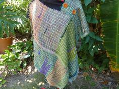 Saori hand woven top by MazzsFibreArt on Etsy, $152.00
