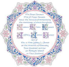 Custom wedding invitations for theme weddings, Renaissance weddings, Medieval weddings