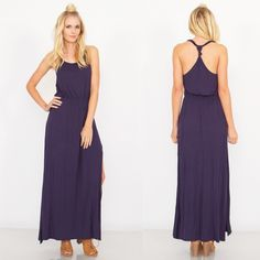 Alison maxi dress Navy jersey maxi dress. Stretch band at waist. Knot detail on back.  95% Rayon 5% Spandex. Do not purchase this listing. Message me to create your own listing Lewboutiquetwo Dresses Maxi