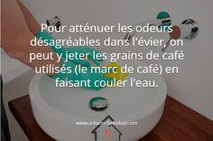 éliminer les odeurs de l'évier #astuce_maison