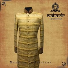 To buy visit our store in Chandni Chowk or inbox to book an appointment with our Fashion Consultant. Gents Kurta, Mens Ethnic Wear, Mens Sherwani, Groom Wear, Wedding Wear, Wedding Trends, Indian Wear, Perfect Wedding, Cool Designs
