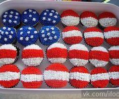 CupCakes da Bandeira dos Estados Unidos