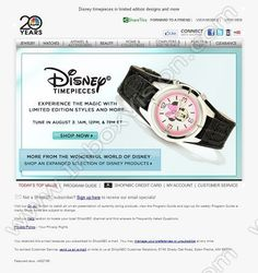 Company: ShopNBC.com   Subject: From the wonderful world of Disney...         INBOXVISION, a global email gallery/database of 1.5 million B2C and B2B promotional email/newsletter templates, provides email design ideas and email marketing intelligence. www.inboxvision.c... #EmailMarketing  #DigitalMarketing  #EmailDesign  #EmailTemplate  #InboxVision  #SocialMedia  #EmailNewsletters