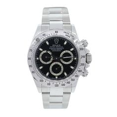Stainless Steel Rolex Daytona 116520 Black Dial Mens Watch