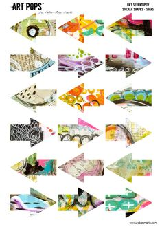 ART POPS™ Sticker Shapes from the Lo's Serendipty™ Collection - Arrows