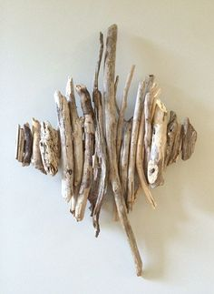 driftwood wall artfound wood object artnatural by thebluebeyondyou