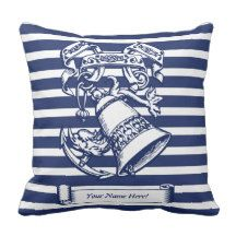 Naval style throw pillow