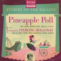 "Pineapple Poll — vintage kids' album cover — Sterling Holloway Decca K-101 (1) 10"" 78RPM record in sleeve"