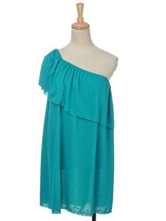 Anna-Kaci Free Size Turquoise One Shoulder Cute « Clothing Impulse
