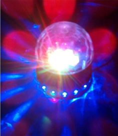 PYSICAL(TM) Black LED RGB Crystal Rotating Magic Ball Sunflower #ColorfulLightingLamp, #PerfectChristmasGift, Best for Party, Disco Dj Stage Light, Stage Lighting for #XmasParty Club Pub Birthday #PYSICAL(TM)