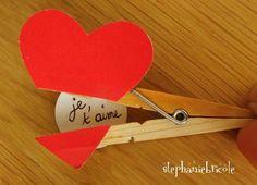 pince saint valentin, idée cadeau saint valentin, faire soi-même