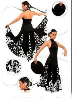 Flamenco costume plain and crepe fabrics