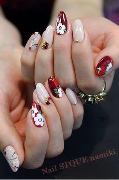 Asian Nail Art, Asian Nails, Nail Polish Designs, Nail Art Designs, New Years Nail Art, Romantic Nails, Tribal Nails, Mirror Nails, Classic Nails
