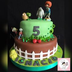 Napell Pasteleria: Plantas vs Zombies Zombie Birthday, Zombie Party, Boy Birthday, Birthday Parties, Birthday Cake, Torta Baby Shower, Torta Angry Birds, Torta Candy, Halloween 1