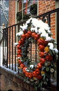 Deck the Doors...with boughs of holly, fans of apple, ornaments of dried okra, pomegranate, oystershell, and all things natural