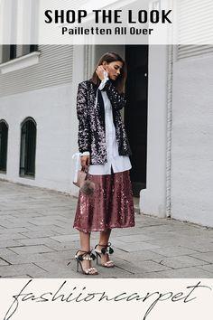 Gemeinsam mit Pinterest & Idea Journey, möchte ich euch dazu aufrufen, modisch herum zu probieren. Bedeutet Outfits und Kombinationen zu tragen, an die ihr euch vielleicht bisher nicht herangetraut habt. #ideajourney #shopthelook #fashion Blazer, Valentino, Dior, Sequin Skirt, Sequins, Journey, Women's Fashion, Costumes, Skirts