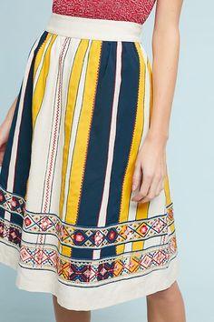 Slide View: 3: Madeline Striped Skirt