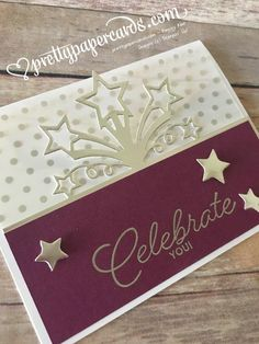 Celebrating On Stage - Free Tutorial! - Pretty Paper Cards