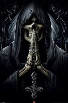 praying skull