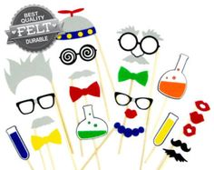 Mad Scientist - Science Party - Birthday - Photo Booth Props - Photobooth Pictures - Birthday - Kids - Children