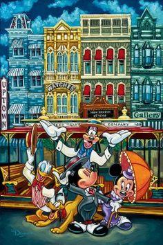 Minnie Mickey and friends Disney Fine Art, Disney Love, Disney Magic, Disney Stuff, Disney Films, Disney Parks, Walt Disney, Orlando Disney, Disney Characters