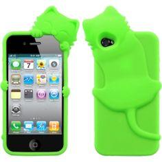 Insten Electric Cat Peeking Pet Skin Phone Case Cover for Apple iPhone 4/ 4S #1180044