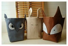 Cute animal bins -- HH I think I'll start these now and have them for your christmas present next year ;)