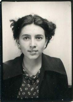 "Vintage Photo Booth Photo ""Darling Eyes"", Photography, Paper Ephemera, Snapshot, Old Photo, Collectibles - 0049"