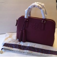 "NWT Tory Burch Handbag Brand new Tory Burch Suggested retail. color Shiraz.description Amanda double zip tote. Come with dust bag. Removable Adjustable strap. Cross Bodybag. Description: 11""L X 4.5""W  X 8.5""H. Tory Burch Bags Crossbody Bags"
