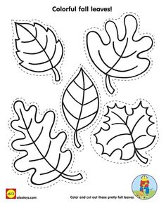 Cut and Color Fall Leaves with our Free Kids Fall Activity #Printable on Alextoys.com: