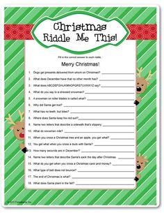 Printable Christmas Riddles for Adults Christmas Riddles For Kids, Printable Christmas Games, Christmas Trivia, Christmas Puzzle, Favorite Christmas Songs, Christmas Activities, Family Christmas, Christmas Holidays, Christmas Ideas
