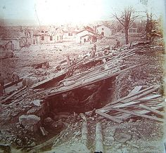 WW1, Verdun 1916; outdoor dormitory before the attack at Fleury…