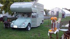 Crazy Cute VW Bug Camper The Vintage Bazaar at Pettingill Farm Salisbury, MA September 22-23, 2012