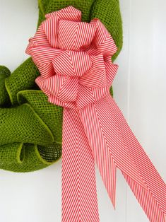 Coloured Burlap Wreath- Day