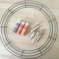 how to make a clothespin wreath Wreaths And Garlands, Deco Mesh Wreaths, Fall Wreaths, Fall Crafts, Halloween Crafts, Holiday Crafts, Diy Crafts, Wreath Crafts, Diy Wreath